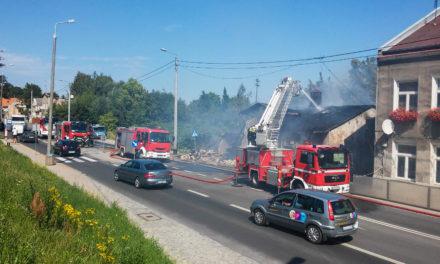 Pożar domu w Lipcach