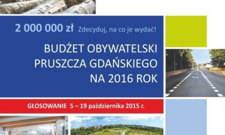 Budżet Obywatelski 2016 – ostatni dzień głosowania!