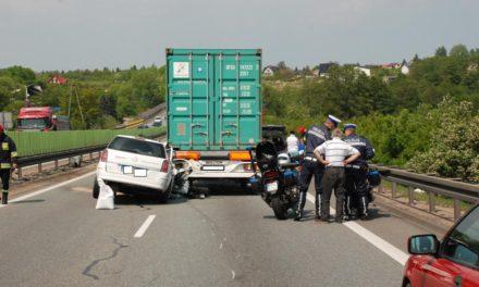 Wypadek na S6 – jedna osoba ranna