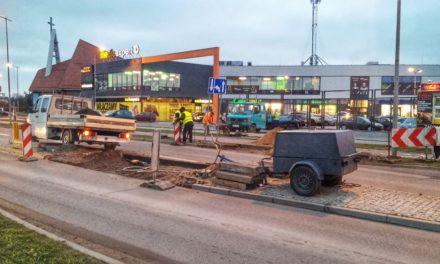 Nowe przejście dla pieszych koło Lidla