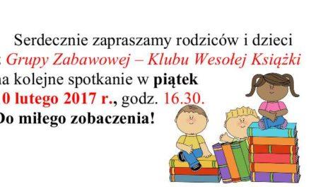 Klub Wesołej Książki – zaproszenie.