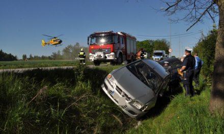 Weekend na drogach, 7 osób trafiło do szpitala w tym ciężarna 28-latka.