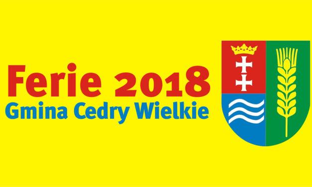 FERIE ZIMOWE 2018 GMINA CEDRY WIELKIE