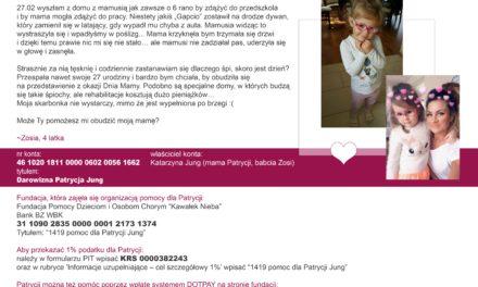 Apel 4-letniej Zosi, która prosi o pomoc.
