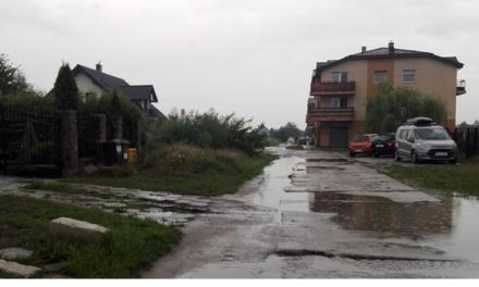 Niebezpieczne drogi po opadach deszczu