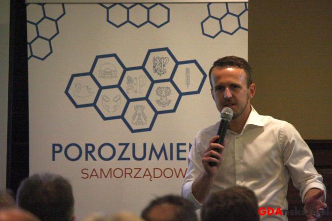 Konferencja prasowa kandydata na wójta Gminy Pruszcz Gdański