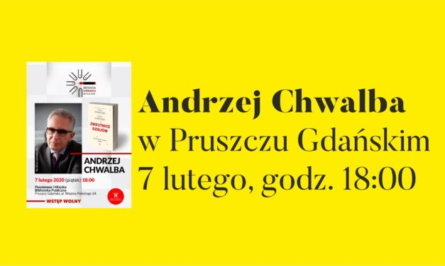 Biesiada literacka z Andrzejem Chwalbą w bibliotece.