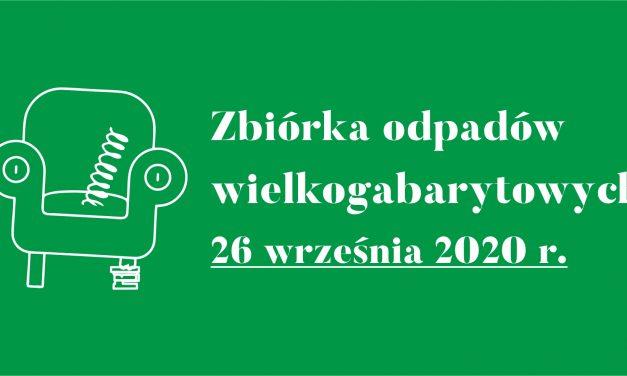 Miasto Pruszcz Gd. – zbiórka odpadów wielkogabarytowych 26 września 2020 r.