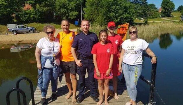 Policjanci z Kolbud obejmą nadzorem kąpielisko w Przywidzu.